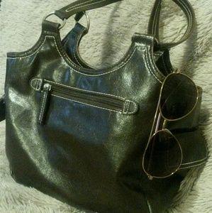 Beautiful St. John's Bay deep brown purse